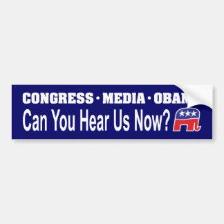 ¿Los medios Obama del congreso pueden usted ahora  Pegatina Para Auto