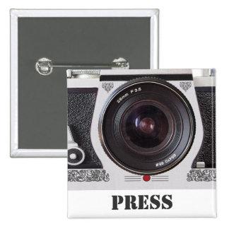Los medios retros y la prensa del efecto de la pin cuadrado