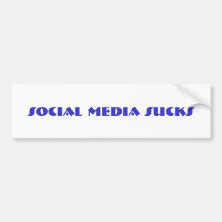 los medios sociales chupan a la pegatina para el p pegatina para auto