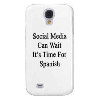 Los medios sociales pueden esperarlo son hora para funda para galaxy s4