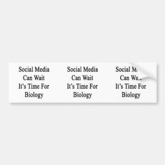Los medios sociales pueden esperarlo son hora para pegatina para auto