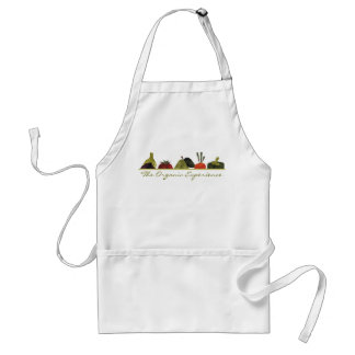 los medios veggies dan fruto cocinando la cocina a delantal