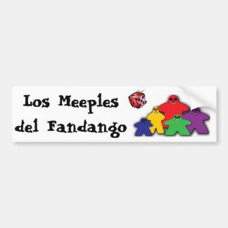 Los Meeples del Fandango Bumper Stickers