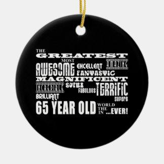 Los mejor sesenta Olds de cinco años: Los 65 años Ornaments Para Arbol De Navidad