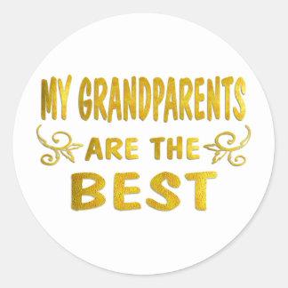 Los mejores abuelos pegatina redonda