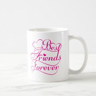 Los mejores amigos asaltan para siempre taza de café