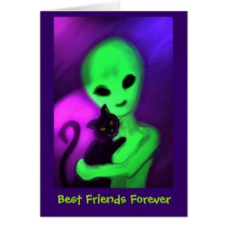 Los mejores amigos cardan para siempre tarjeta de felicitación