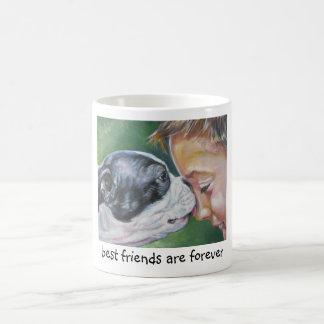 los mejores amigos de la taza del terrier de Bosto