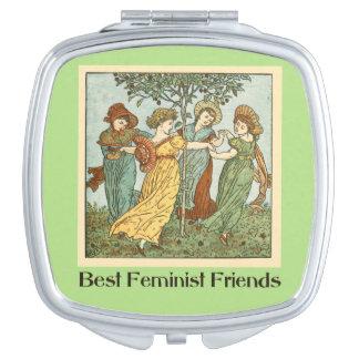 Los mejores amigos feministas espejos para el bolso