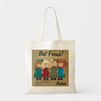 Los mejores amigos para siempre - personalice bolsa tela barata