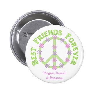 Los mejores amigos personalizados abotonan para si pin redondo 5 cm