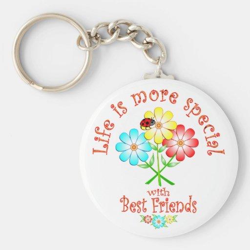 Los mejores amigos son especiales llavero redondo tipo pin