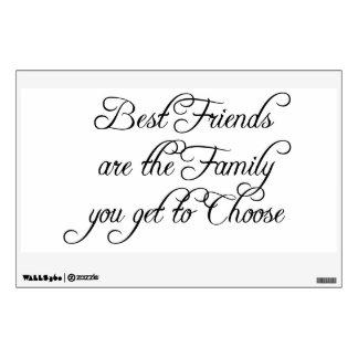 Los mejores amigos son etiqueta de la pared de la vinilo