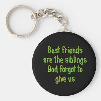 Los mejores amigos son los hermanos llavero redondo tipo pin