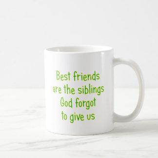Los mejores amigos son los hermanos taza