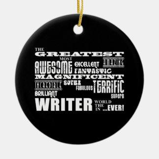Los mejores autores y escritores: El escritor más Adorno Navideño Redondo De Cerámica