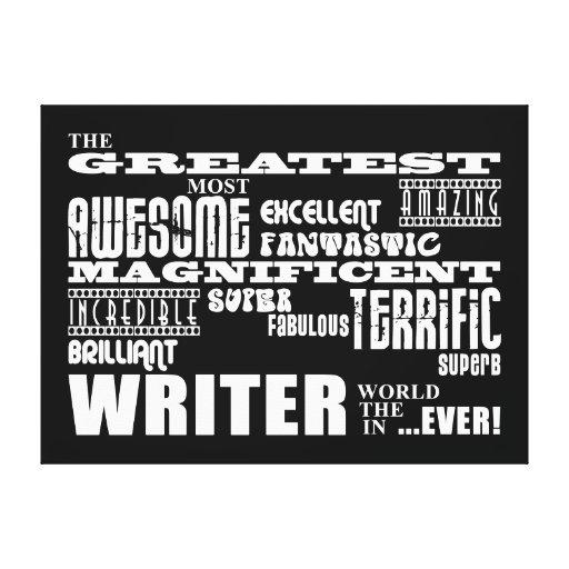 Los mejores autores y escritores: El escritor más  Lona Envuelta Para Galerías