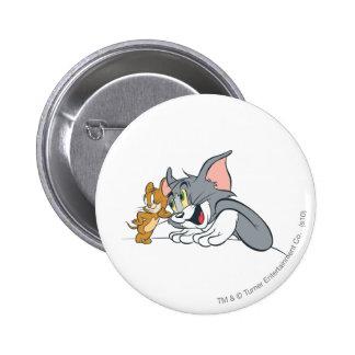 Los mejores brotes de Tom y Jerry Pin Redondo De 2 Pulgadas