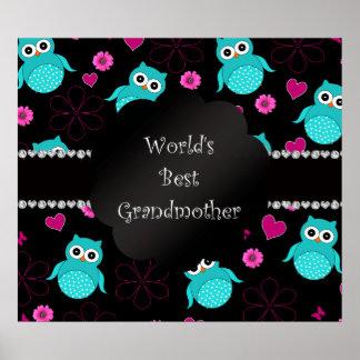 Los mejores búhos de la abuela del mundo póster