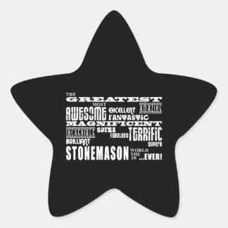 Los mejores canteros: El cantero más grande Pegatina En Forma De Estrella