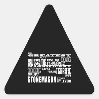 Los mejores canteros: El cantero más grande Pegatina Triangular