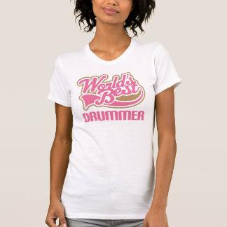 Los mejores chicas del batería de los mundos camiseta
