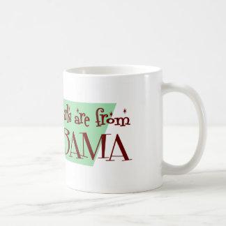 Los mejores chicas son de Alabama Tazas De Café