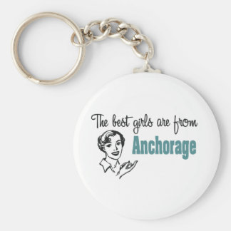 Los mejores chicas son de Anchorage Llavero Personalizado