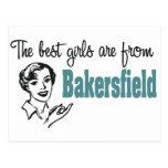Los mejores chicas son de Bakersfield Tarjeta Postal