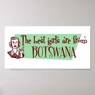 Los mejores chicas son de Botswana Posters