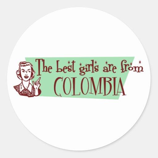 Los mejores chicas son de Colombia Pegatina