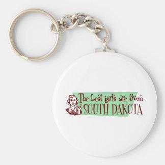 Los mejores chicas son de Dakota del Sur Llaveros Personalizados