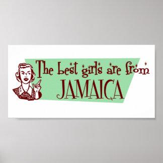 Los mejores chicas son de Jamaica Posters