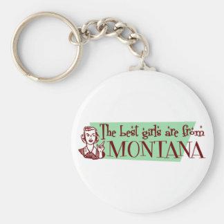 Los mejores chicas son de Montana Llaveros Personalizados
