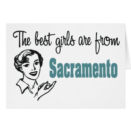 Los mejores chicas son de Sacramento Tarjeta De Felicitación