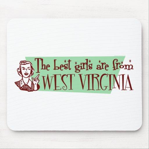Los mejores chicas son de Virginia Occidental Alfombrilla De Raton