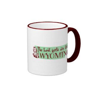 Los mejores chicas son de Wyoming Taza De Café