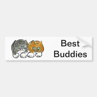 Los mejores compinches - dos gatitos pegatina para auto