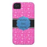 Los mejores corazones del rosa de la mamá del mund Case-Mate iPhone 4 cárcasas