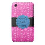 Los mejores corazones del rosa de la mamá del mund Case-Mate iPhone 3 cobertura