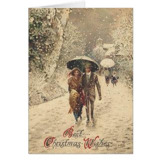 Los mejores deseos del navidad - tarjeta