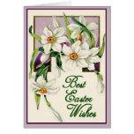 Los mejores deseos, lavanda y blanco de Pascua per Tarjetas