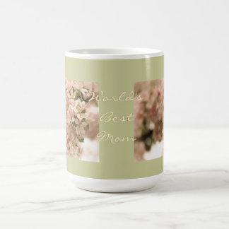 Los mejores flores de Apple de la mamá del mundo Taza Clásica
