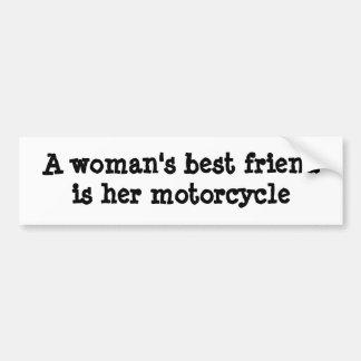 Los mejores friendis de una mujer su motocicleta pegatina para auto
