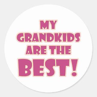 Los mejores Grandkids Pegatina Redonda