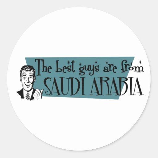 Los mejores individuos son de la Arabia Saudita Pegatinas Redondas
