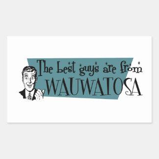 Los mejores individuos son de Wauwatosa Pegatina Rectangular