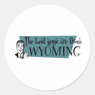 Los mejores individuos son de Wyoming Etiqueta Redonda
