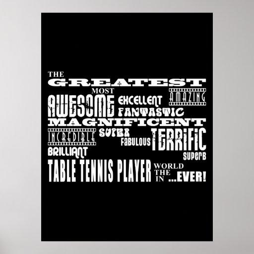 Los mejores jugadores de tenis de mesa: El jugador Posters