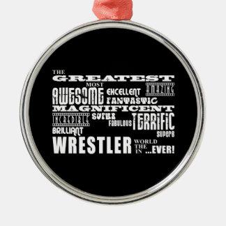 Los mejores luchadores: El luchador más grande Adorno Redondo Plateado